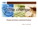 Tiểu luận: The change Please purchase a personal license