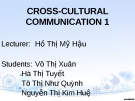 Cross-cultural communication 1: Some differences between the vietnamese and the american in communication styles