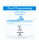 Excel programming