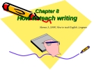 Lecture Chapter 8: How to teach writing