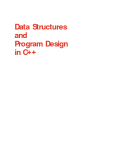 Ebook Data Structures and Program Design in C++
