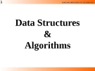 Lecture Data Structures  &  Algorithms: Chapter 0