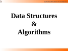Lecture Data Structures  &  Algorithms: Chapter 1