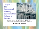 International Business - Chapter 7: The international monetary system and the balance of payments