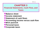 Bài giảng Chapter 3: financial statements, cash flow, and taxes