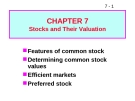 Bài giảng Chapter 7: Stocks and their valuation
