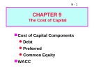 Bài giảng Chapter 9: The cost of capital