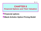 Bài giảng Chapter 8: Financial options and their valuation