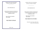 Ph.D Thesis summary: Develop bencassurance of insurance companies under VietNamese state commercial bank