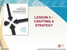 Lecture Strategic Management: Lesson 3 - Crafting a strategy