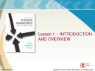 Lecture Strategic Management: Lesson 1 - Introduction and overview