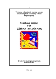 SKKN: Teaching project For Gifted students